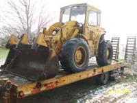 Cat 922B wheel Loader good brakes cab and heat $5995