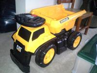 CAT Ride-on Dump Truck  You can use the bed down or