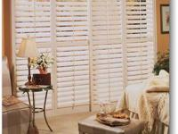 Catalan White Faux Wood Shutters (Pair) 1 Left, 1 Right