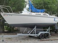 81 Catalina 25 tall rig.fixed keel ,poptop 3yr old main