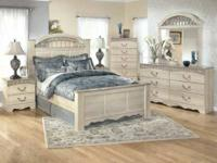 Ashley's Catalina bedroom collection offers elegant