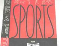 1935 Elliott Sports Catalog...Fall & Winter.76 pages.