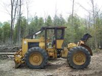 CAT 518 cable skidder, low hours, with new ice & bear