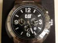 I have a new, never worn Caterpillar chronograph watch.