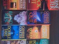 $15 each. 2 of 9 Coulter Lot. FBI Thriller series. All