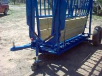 LARGE ___PORTABLE SQUEEZE CHUTE. SHOP MADE, STURDY WITH