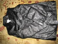 For sale is a mint conditon women calf leather coat by