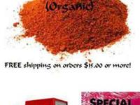 Cayenne Pepper (ground) Organic, Order now, special