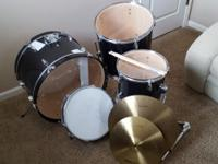 Selling a used CB Drum Set Shell Pack with Cymbals.