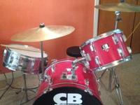 This drum set is in good condition. I've had it for two