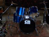 CB DRUMS ? BLUE 5 PC KIT 12 in., 13 in., and 16 in.