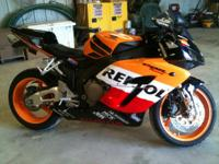 Description Make: Honda Model: cbr1,000rr Mileage: