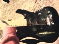 CC Clark electric guitar 3/4 sized 6 string with Peavy