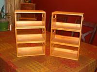 CD/DVD Wooden Holders - Six holders (6), maple finish,