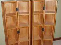 CD / DVD Storage Towers are solid oak and in like NEW