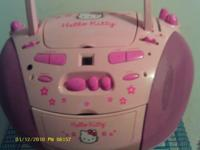 Its a pink Hello Kitty, CD player it can play music
