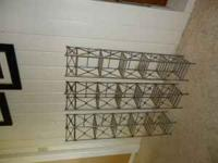 "3 wrought iron CD racks, 38"" tall. $7 each or all three"