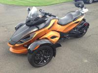 Up for auction is my 2011 Can-Am Spyder RSS. It is in