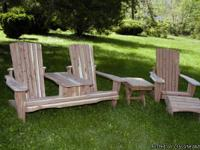 This adirondack furniture is hand-crafted in
