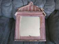 Quality Purpleheart Cedar handmade mirror Call  and