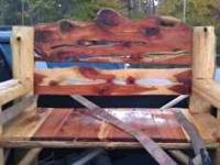 CEDAR BENCH FOR SALE- HAND MADE - 4 1/2 FEET WIDE Just