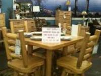 SOLID GATHERING SQ 42IN WHITE CEDAR TABLE.... SALE