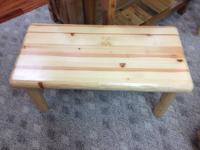Like New cedar coffee table. Asking $159. We also have