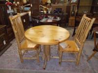 This cedar log table and chairs set is impressive! It's