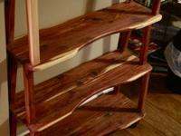 For sale is a pair of cedar shelves that I built and