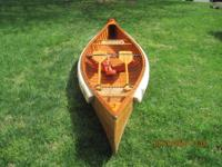 Hand made cedar wood canoe, very light and easy to