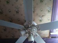 "For sale 4 ceiling fans with lights.. 3 have 21"" blades"