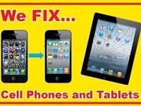 We repair cell phone and tablet screens. Most screens