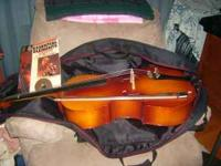 NICE SOUNDING ---1/2 size cello--with bow /rosin and
