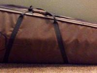 Full-size, difficult cello case. Brown with gray