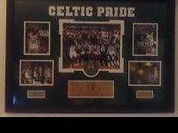 "I have a wall ""Celtic Pride"" mint condition Black Frame"