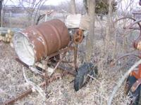 This is a homemade cement mixer. It is electric and