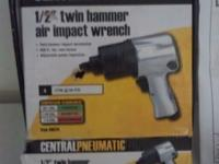 New, 1/2 inch twin hammer air impact wrench. $35 Or