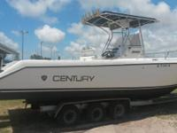 1999 Century 3000 Center Console Boat, 31' long, Twin