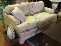 "Century, custom-made love seat measures: 58"" vast x 36"""