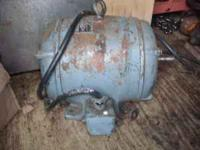 Century electric motor, 2 hp, 110/220 v; 1750 rpm