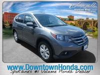 Certified. Polished Metal Metallic 2014 Honda CR-V EX-L