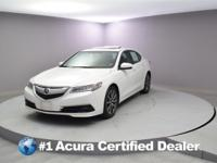 Certified. 2015 Acura TLX 3.5L V6 MOONROOF, PASSED