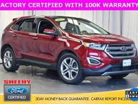 2015 FORD EDGE TITANIUM, FORD FACTORY CERTIFIED WITH 7
