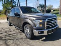 Certified. Gray 2015 Ford F-150 XLT RWD 6-Speed
