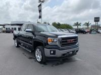 Clean CARFAX. Certified. Onyx Black 2015 GMC Sierra