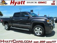 Iridium Metallic 2015 GMC Sierra 2500HD SLT 4WD Allison