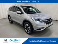 2015 Honda CR-V Touring CARFAX One-Owner. Odometer is