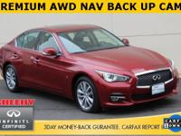 INFINITI FACTORY CERTIFIED, AWD, EXCELLENT SERVICE