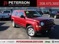 Deep Cherry Red Crystal 2015 Jeep Patriot Sport FWD