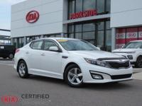 2015 Kia Optima LX White Beige w/Clean Tex Cloth Seat